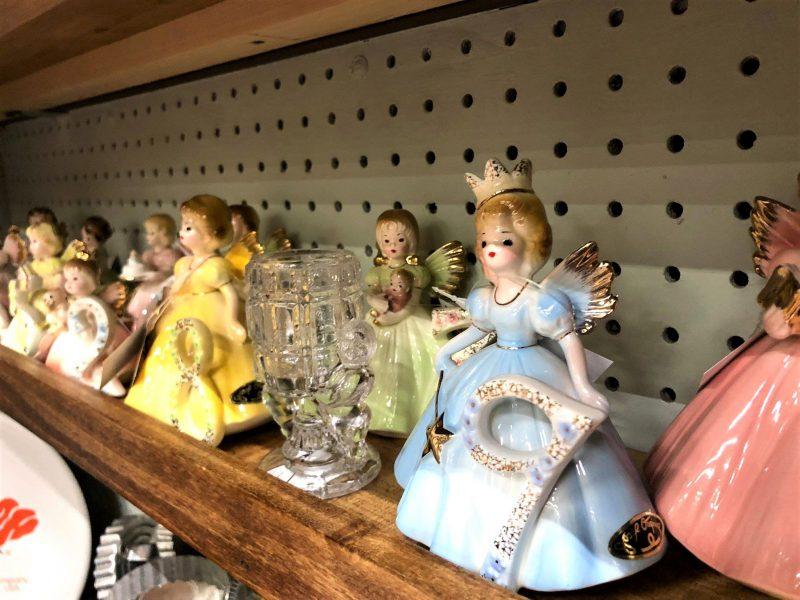 vintage ceramic birthday angels