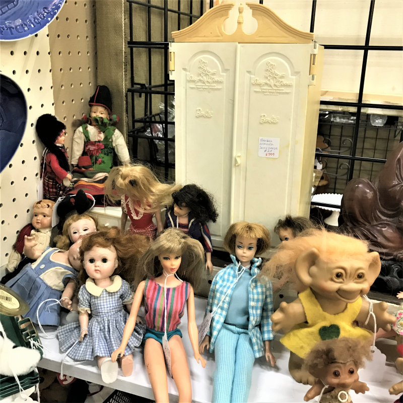 vintage barbies and other dolls